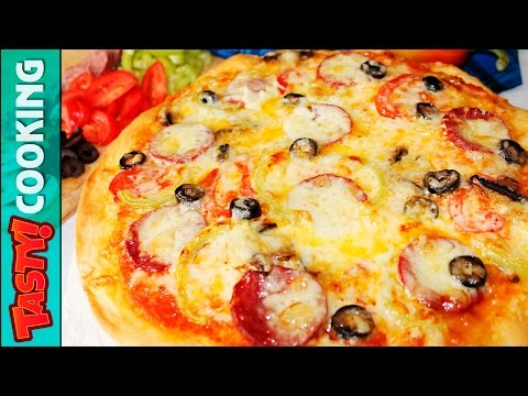 HOMEMADE Salami PIZZA Recipe ♥ How To Make Delicious Pizza At Home ♥ Tasty Cooking