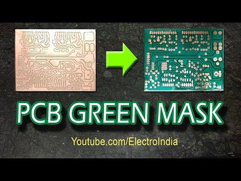 PCB Solder Green Mask DIY ( hindi ) Electronics ELECROINDIA