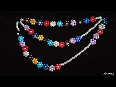 Beaded Necklace. Easy pattern for beginners. 👀