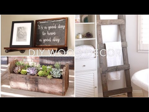 DIY Home Decor (Towel Ladder, Shelving, Succulents Caddy)