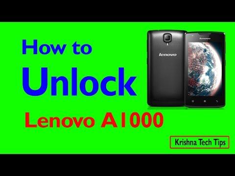 Lenovo A1000 Hard Reset - How to Unlock - Forgot Password