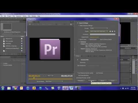 Adobe Premiere Pro CS5 Tutorial: Rendering and Exporting