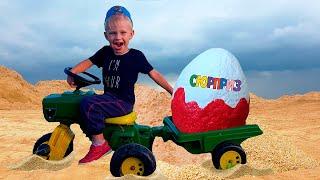 Download Малыш на Тракторе везет Яйцо с сюрпризом | Видео для детей Video