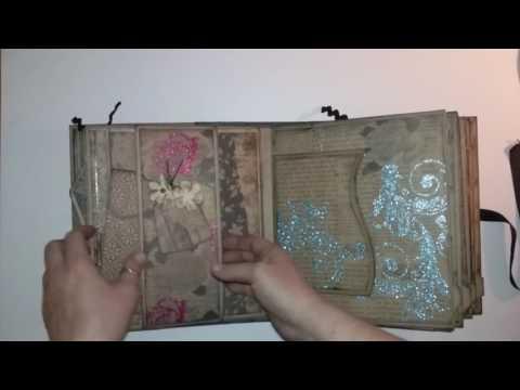 Interactive Vintage Scrapbook