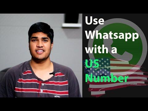 (Telugu) Use whatsapp with US number - యుఎస్ నంబర్ తొ వాట్సప్