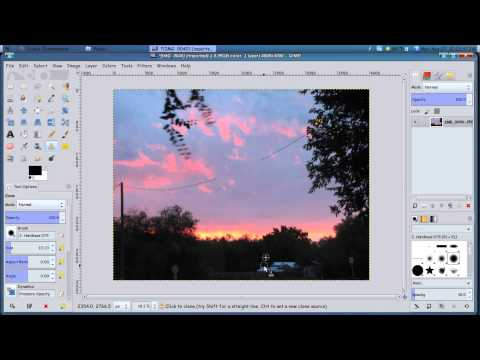 Removing unwanted parts of a picture using gimp