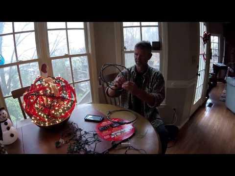 Christmas Wreath Making and Decorating a Deco Shape Christmas Ball