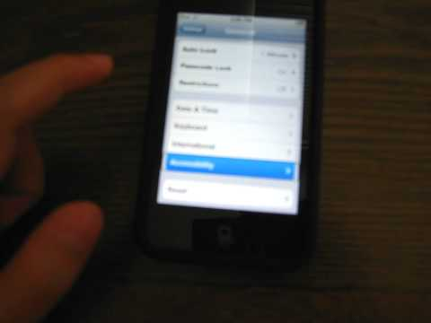 How to disable voice over on your ipod touch without jailbreaking it.