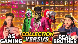 A_s Gaming Vs Real Brother Collection Versus Who's Collection Is Best 😍 - Garena Free Fire