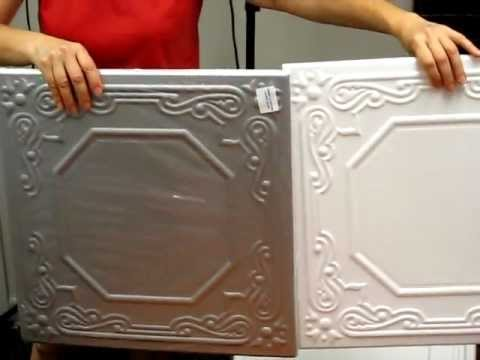 Polystyrene styrofoam Do-It-Yourself Decorative Ceiling Tiles how to paint and install