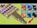 Who Can Survive This Difficult Trap on COC? Trap VS Troops #17