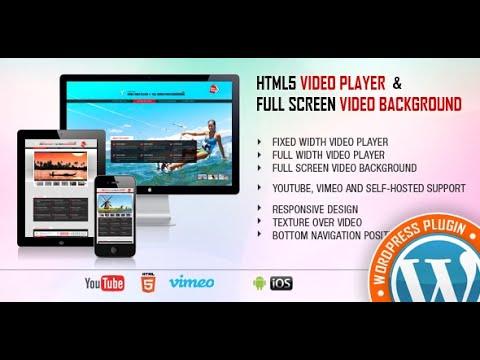 Video Player & FullScreen Video Background WP Plugin - Create a Video Player