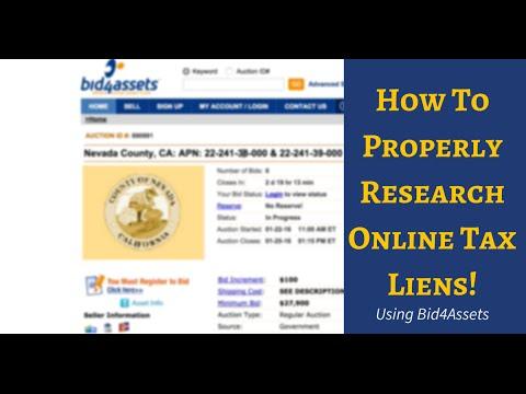 Understanding Online Tax Lien Investing With Bid4Assets