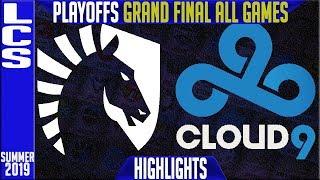 Download TL vs C9 Highlights ALL GAMES | LCS Summer 2019 Playoffs Grand Final | Team Liquid vs Cloud9 Video