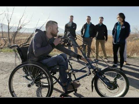 Wheelchair transforms into a hand-trike for LDS Charities