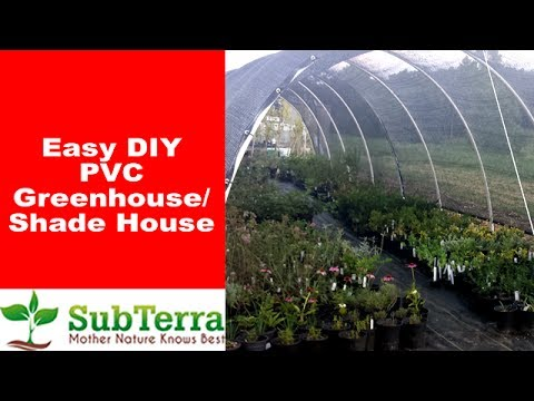 Easy DIY Hoop PVC Greenhouse or Shadehouse
