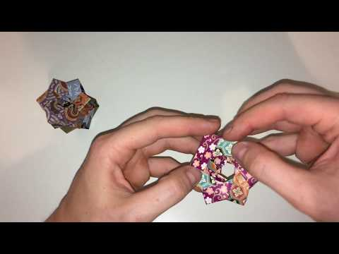 How to fold an Origami Chinese Wheel | Modular Origami | Silent Origami
