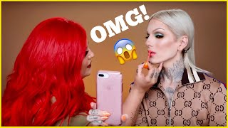 DOING OUR MAKEUP IN LINE AT TANACON