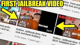 [FACECAM] REACTING to my OLDEST JAILBREAK VIDEO Roblox