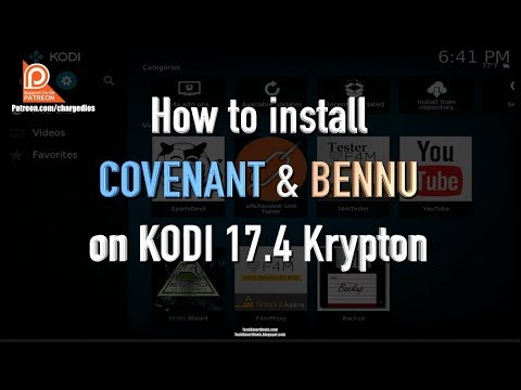 How to install COVENANT & BENNU Add-ons for KODI 17.6+