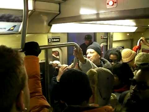 No Room on NYC Subway Penn Station to Central Park Macy's Thanksgiving Parade