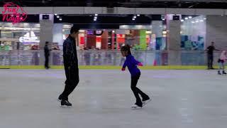 Belajar Ice Skating: Nayfa Semangat Latihan Ice Skating Menyeimbangkan Tangan & Kaki Diatas Es