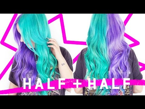 Teal/Lilac Half + Half Hair! | by tashaleelyn