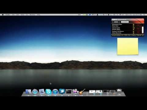 Mac Terminal Trick: Widgets on Desktop