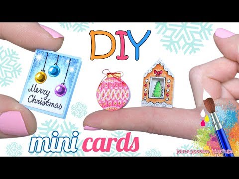 How To Make Miniature Greeting Cards For Christmas – DIY Mini Christmas Cards
