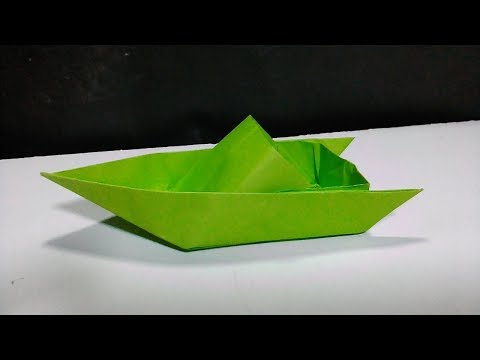 How to make a cool paper speed boat