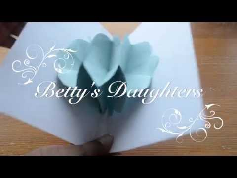 How To Make a Bouquet Flower Pop Up Card: Easy and Simple Pop Up Card Tutorial