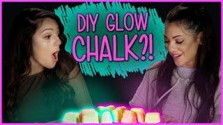 DIY Glow in the Dark Chalk?! | Niki and Gabi DIY or DI-Don