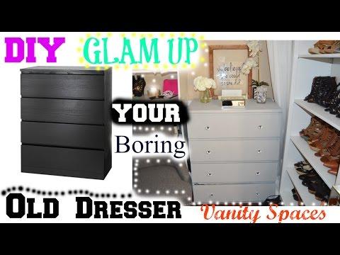 DIY Glam Up Your Boring Old Dresser - Ikea Hacks