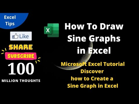 How To Draw Sine Graphs in Excel Tutorial