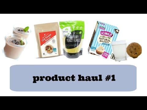 Vegan friendly food product haul
