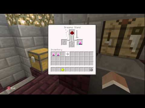 Minecraft for Xbox - How to make an Instant Health potion!