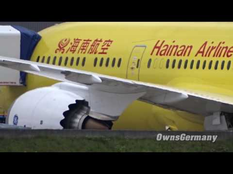 The Most Yellow Boeing 787-9 Dreamliner - Hainan B-7302 Before Kung Fu Panda Decals