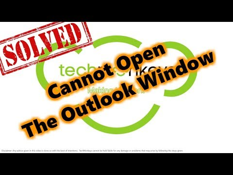 Solved: Cannot open the Outlook window. The set of folders cannot be opened. - Tips #3