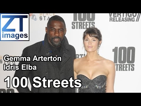 Gemma Arterton and Idris Elba at the film premiere 100 Streets in London, UK.