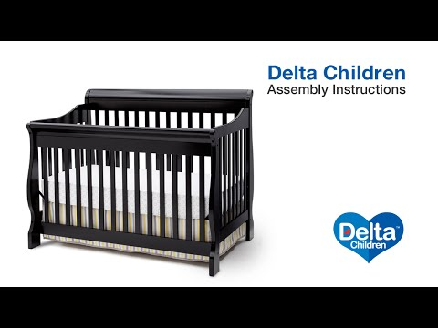 Delta Children Canton 4-in-1 version B Crib Assembly Video