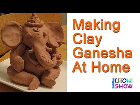 How to make Ganesh Idol at Home| making ganesha idol with clay| Happy vinayaka chavithi |