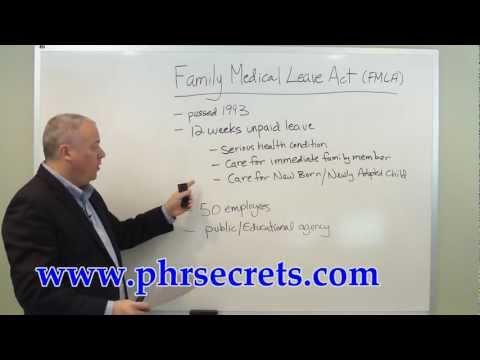 PHR Study Guide FMLA