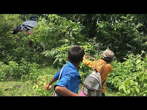Amazing Two Boys Make Slingshot Traditional-How to make slingshot use wood
