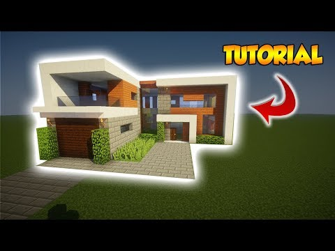 Minecraft: Large Modern Tutorial - How to build a Modern House