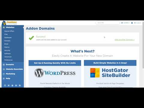 Adding an Addon Domain in Hostgator cPanel Hosting