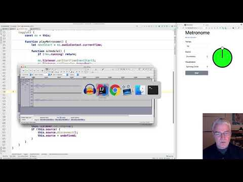 Metronome with JavaScript, p5.js and the Web Audio API