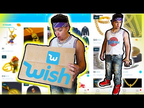 I BOUGHT AN ENTIRE RAPPER OUTFIT OFF WISH!! (EXPENSIVE ICED OUT CHAINS)