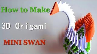 3D origami red winged swan tutorial - YouTube | 180x320