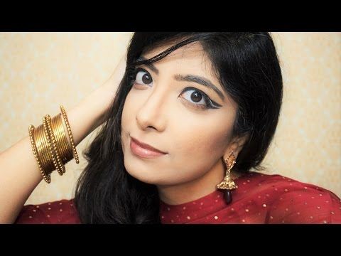 Graphic Eyeliner Indian Makeup Look for Indian Wedding & Party
