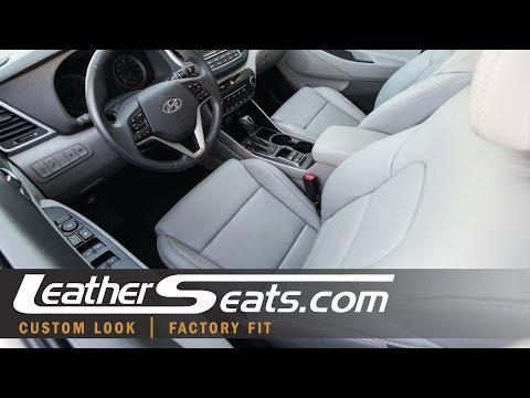 2016 Hyundai Tucson Custom Leather Seat Upholstery Interior Kit - LeatherSeats.com